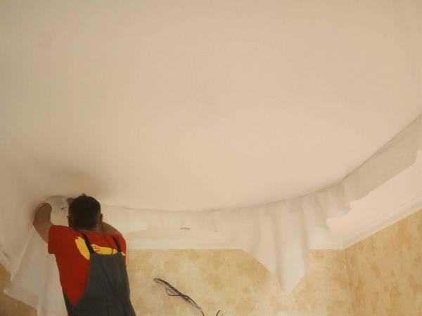 тканевый натяжной потолок в ирпене
